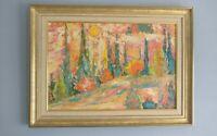 Péter Prokop ( 1919-2003  ) Huile sur panneau , prête peintre Hongrois.