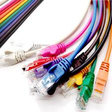 Ethernet Network LAN Cable RJ45 Cat5e Patch Router Modem PC Lead Lot 25cm to 20m