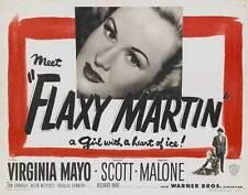 FLAXY MARTIN Movie POSTER 27x40 Virginia Mayo Zachary Scott Dorothy Malone Tom