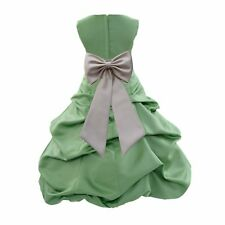 CLOVER GREEN ST. PATRICK DAY FLOWER GIRL DRESS WEDDING BRIDE Christmas Holiday