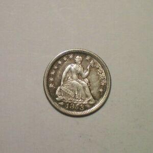 1853 O ARROWS SEATED LIBERTY HALF DIME AU