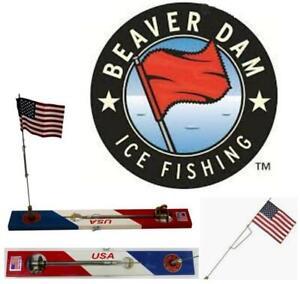 Beaver Dam Tip Up American flag With American Flag BDTPAF