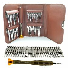 29 en 1 Marrón Cartera De Cuero Precision Screwdrivers reparación Kit PARA