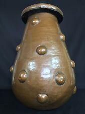XXL Copper Brutalist 1910s Arts & Crafts Vase/Umbrella Stand/Planter Art Nouveau