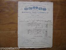 VINGTAINE factures de 1880 MONTREUIL VIGNAT Clichy LAFFOREST pharmacien Meyssac