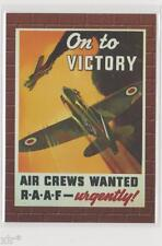 MILITARY PROPAGANDA POSTERS TRADING CARD RARE CASE CARD NUMBERED 37/36 RAAF CARD