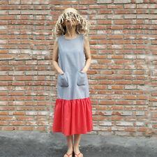 Unbranded Linen Machine Washable Maxi Dresses for Women