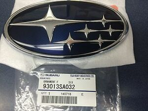 Subaru Genuine Impreza Legacy Forester Front Star Grille Emblem Badge OEM NEW