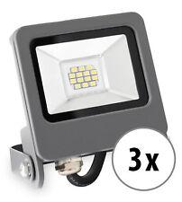 3x Spot Lampe LED Projecteur Exterieur Eclairage Jardin Terrasse 10W Blanc Chaud