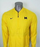 Michigan Wolverines Nike Sideline Lockdown Half-Zip Jacket - Maize