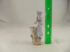 Antique Tall Girl With Brades Match Holder and Striker