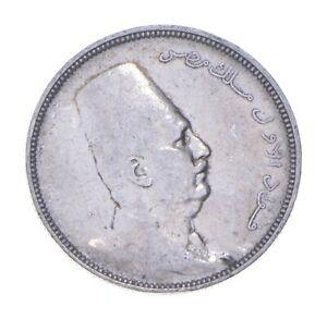 SILVER - WORLD Coin - 1923 Egypt 5 Qirsh - World Silver Coin *319