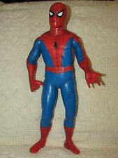 "SPIDERMAN Poseable Action FIGURE 14"" Tall TOY BIZ / Marvel Rare MADE IN MEXICO"