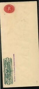 Mexico  large Wells  Fargo  cover  unused  20  cent      MS1006