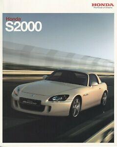 Honda S2000 2.0i VTEC Roadster & GT UK Market Brochure 2007-2008 46 Pages