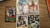 Lot of 5 Football Trading Cards FREE SHIPPING