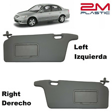 Sun Visor Left + Right for Honda Civic 2001-2005 DARKGRAY 2MPLASTIC 02-03-04