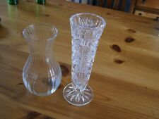 2 x glass flower vases