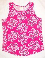 Gymboree Girls Tank Top Cotton Shirt Sleeveless Butterflies Butterfly 5-6 7-8 10