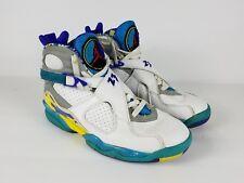 2007 Nike Air Jordan VIII 316836-161 Size 8.5 Aqua Blue Leather Hi-tops Rare