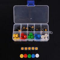 25Pcs Tactile Push Button Switch Momentary Tact & Cap 12X12X7.3Mm Kit Arduino HC