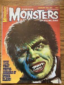 FAMOUS MONSTERS #34 - AUG. 1965 FN/VF Warren Horrors Of Spider Island