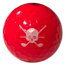 Volvik Ruby Red Crystal Jolly Rogers Skull Crossbones Golf Balls Sleeve of 3 New