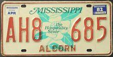 TARGA ORIGINALE USA Mississippi 1982 plaque d'immatriculation TARGA
