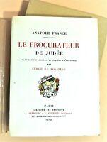 (Bibliophilie) A. FRANCE, le Procurateur de Judée, ill Solomko, N°VII, 4 états
