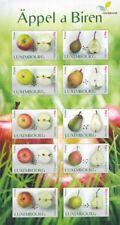 Luxemburg 2015 appels en persen fruit   velletje     POSTFRIS/MNH