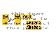 DINKY TOYS   EATON YALE  TRACTOR sticker set yellow