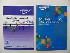 Music Manuscript Books Various Sizes 24 Pages A4 A5 Staves Page Compose Theory