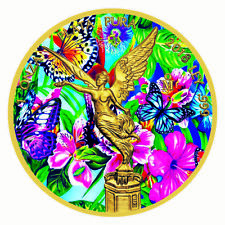 2018 Silver Mexico Libertad - Dancing Butterflies Colorized and Gold Gilded Coin