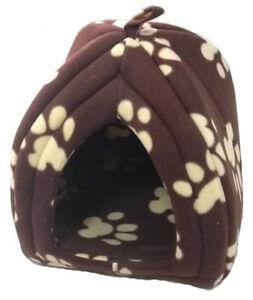 Pet Hut Cat Dog Rabbit Bed Igloo Soft Warm Thermal Fleece Luxury Winter Basket