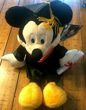 Disney Graduation Mickey Plush Doll - New With Tags