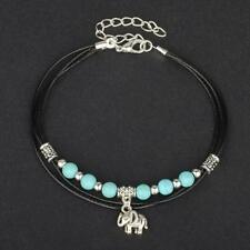 Gorgeous Womens Anklet Turquoise Elephant Exquisite Summer Multi-Layer Chain Lp