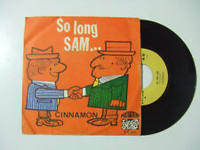 "Cinnamon ‎– So Long Sam - Disco Vinile 45 Giri 7"" Stampa ITALIA 1969"