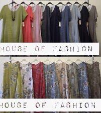 Wholesale joblot ladies italian Dresses Lagenlook  tunic Linen 2styles 12pcs mix