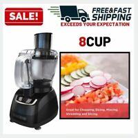 Food Processor 8 Cup Electric Mill Chopper Slicer Shredder Multipurpose Kitchen