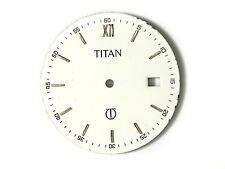 Esfera Dial TITAN QUARTZ Blanca pieza recambio calibre ETA 955.412 dia 29mm