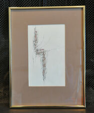 Shirley R. Parrish - Original Pen and Ink Drawing - Pueblo Village - Mesa Cliffs