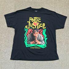 Tupac Shakur 2Pac Poetic Justice Retro Rap Hip Hop Music T-Shirt Men's 2XL New