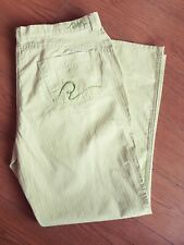 M/&S Khaki Lightweight Cotton Elastic Back Pocket Trousers 22 Long ms-259rt