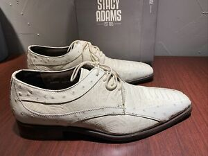 Stacy Adams Mens Dress Shoes Florenza 9M Ivory 24790 W/ Box