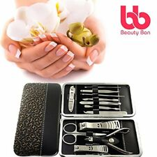 Manicure Pedicure Set Nail Clippers – 12 Piece Stainless Steel Hygiene Kit