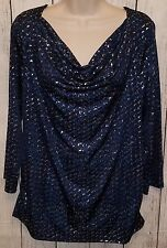 Womens Stretchy Blouse Shirt Top Size XL Dana Buchman