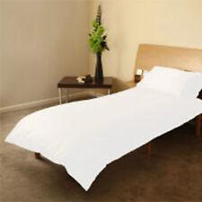 Cot Bed Duvet Cover + Pillowcase Junior Bed Set Toddler 120cm x 150cm  White