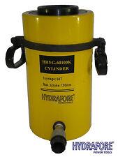"60 tons 4"" stroke Single Acting Hollow Ram Hydraulic Cylinder Jack YG-60100K"