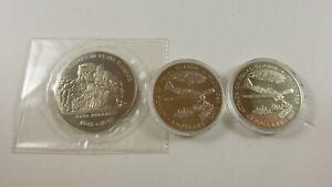 Lot of 3 Republic of Liberia & Marshall Islands Pearl Harbor Commemorative Coins
