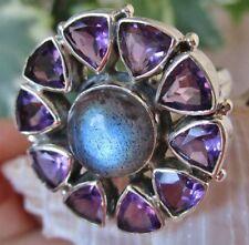 Ringe mit natürlichem Amethyst echten Edelsteinen